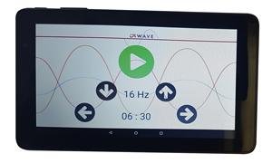 Mit dem Touch Screen können Sie die Hertzfrequenz zwischen 5 und 20 HZ und die Trainingsdauer zwischen 1 und 59 Minuten einstellen